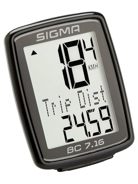 SIGMA SPORT BC 7.16 Cykelcomputer kabelbundet sort